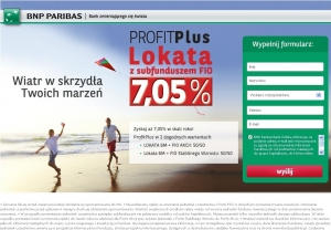 BNP Paribas Bank - Lokata PROFIT Plus